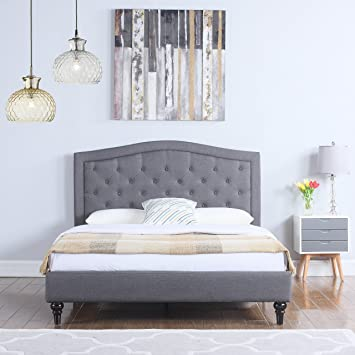 Modern Grey Bed Frame Interior