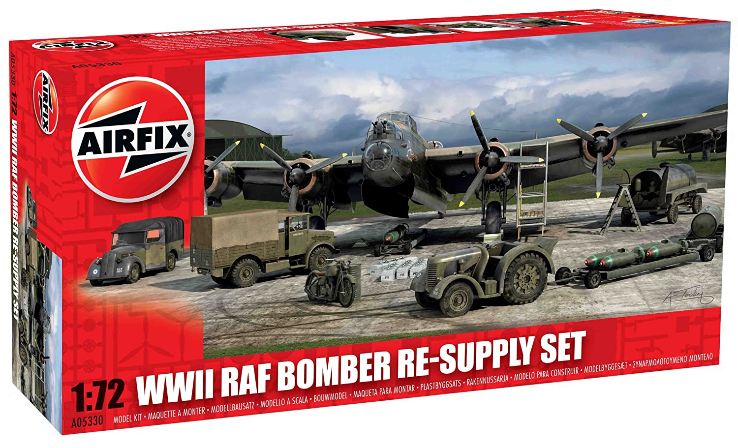 Airfix A05330 WWII RAF Bomber Re-Supply Set, 1:72 Scale