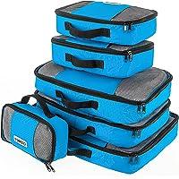 Savisto Packing Cubes, 6-teiliges Packtaschen Set für Urlaub, Reisen, Flugreisen - Ordnungssystem für Koffer, Handgepäck, Trolley, Reisetasche und Rucksack - Packwürfel in 7 Farben