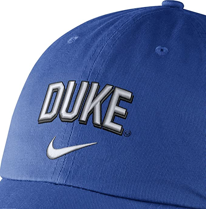 new styles 888a2 058b3 ... coupon code for amazon nike mens duke blue devils duke blue heritage86  wordmark swoosh flex hat