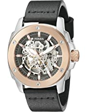 Fossil Men's ME3082 Modern Machine Automatic Leather Watch - Black