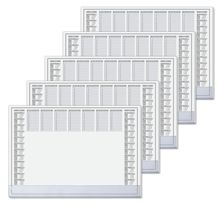 Sigel HO365 Papier-Schreibunterlage mit Schutzleiste, 5er Pack, ca. DIN A2 , 2-Jahres-Kalender, 40 Blatt B07CZCRQJ7       Schönes Design