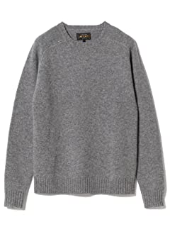 5 Gauge Wool Crewneck Sweater 11-15-0879-103: Grey