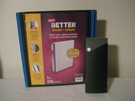 amazon com staples better binder 1 inch rings holds 275 pages