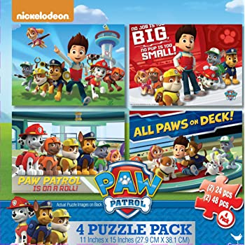 Amazon Com Cardinal Industries Paw Patrol 4 Pack Of