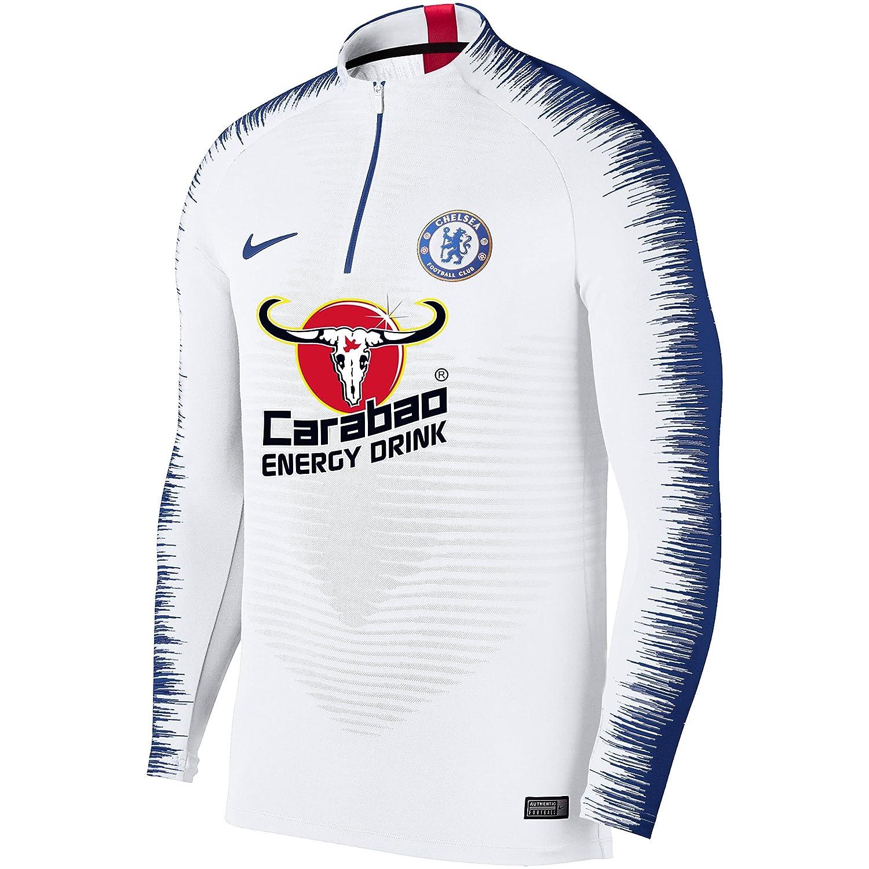 8bffbf08ad Nike Nike Nike Chelsea FC Vaporknit Strike Drill, T-Shirt A Manica Lunga  Uomo, bianca blu Rush Blu, 2XL 862789
