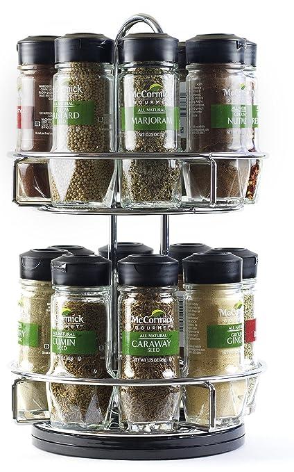 McCormick Gourmet Chrome Spice Rack: Amazon.com: Grocery U0026 Gourmet Food