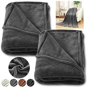 Neu Wohndecke Punkte 150x200 Cm Grau Kuscheldecke Sofadecke Schlafdecke 100% Original Home & Garden Blankets & Throws