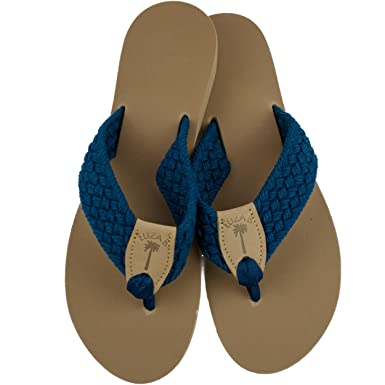 04883ecfd01af4 Amazon.com  Eliza B Navy Macrame Sandal with Almond Sole  Clothing