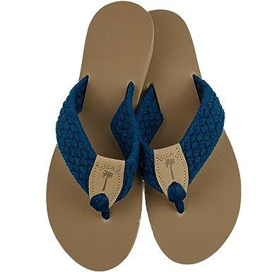 Amazon.com  Eliza B Navy Macrame Sandal with Almond Sole  Clothing 966ec56969d7