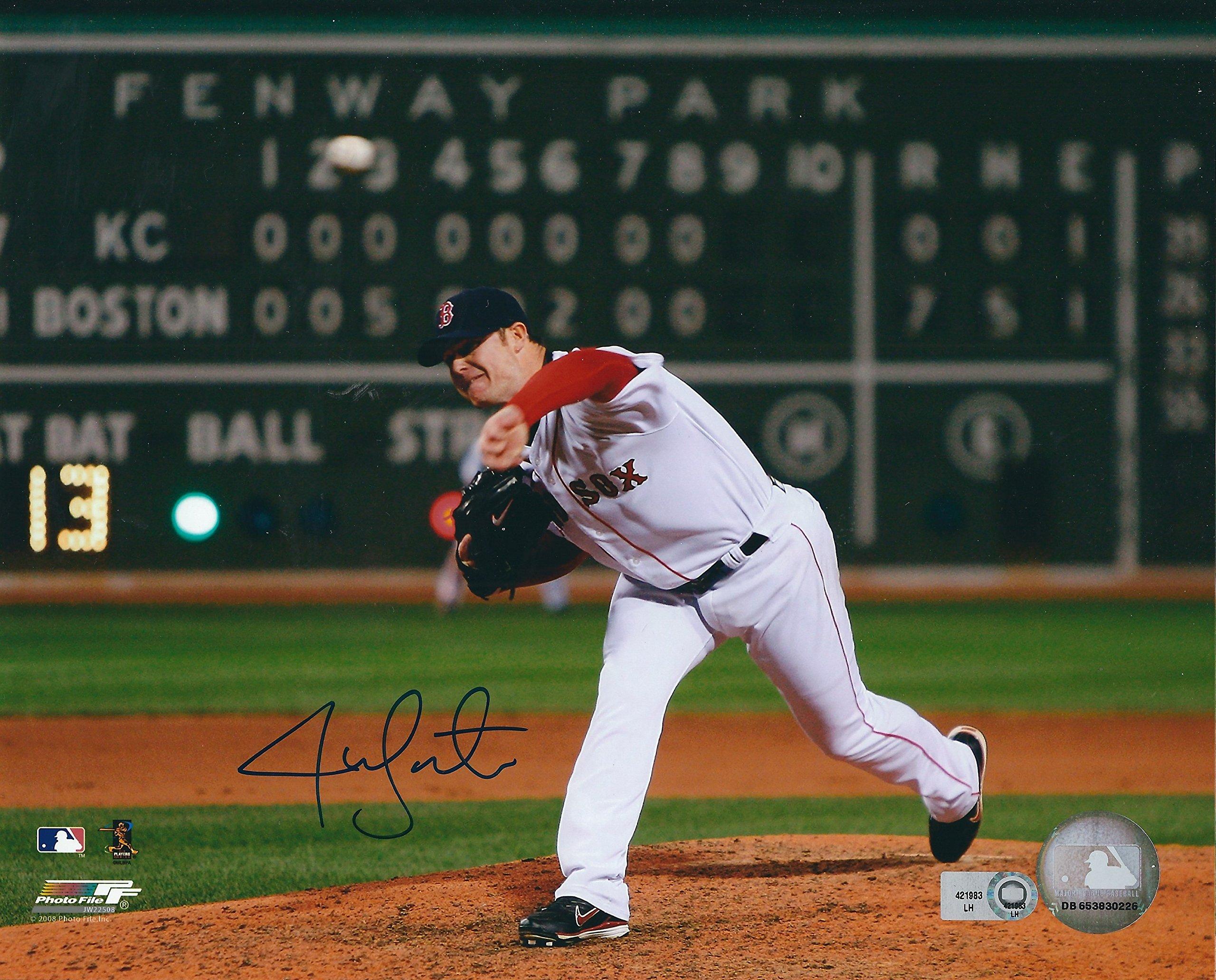 Autographed Jon Lester 8X10 Boston Red Sox Photo