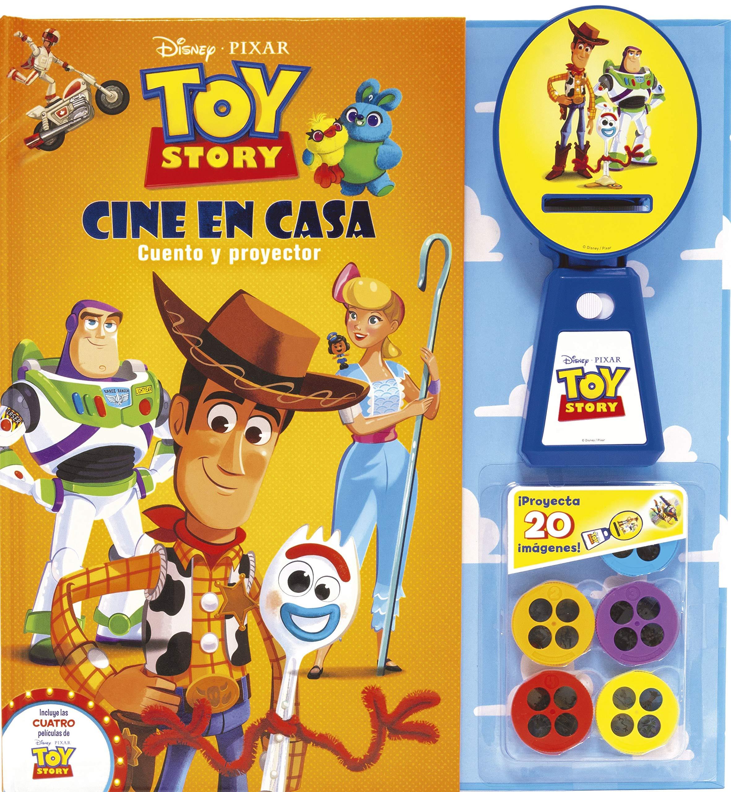 Toy Story. Cine en casa: Cuento y proyector Disney. Toy Story 4 ...