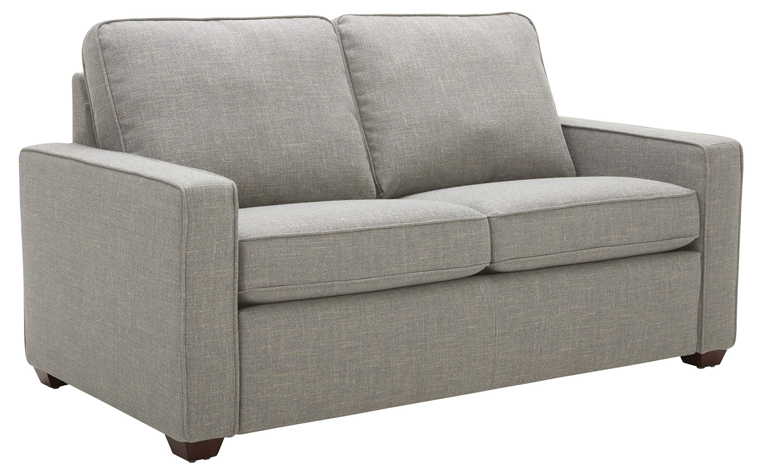 Rivet Andrews Contemporary Love Seat with Removable Cushions, 67''W, Light Grey by Rivet