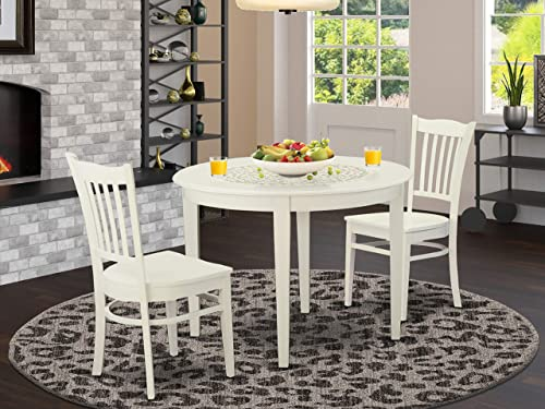 East West Furniture Modern Dining Table Set 3 Piece - a good cheap dining room set