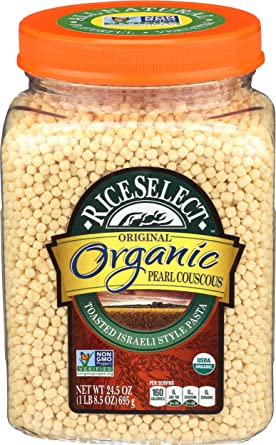 Amazon Com Riceselect Organic Pearl Couscous 24 5 Ounce Grocery Gourmet Food
