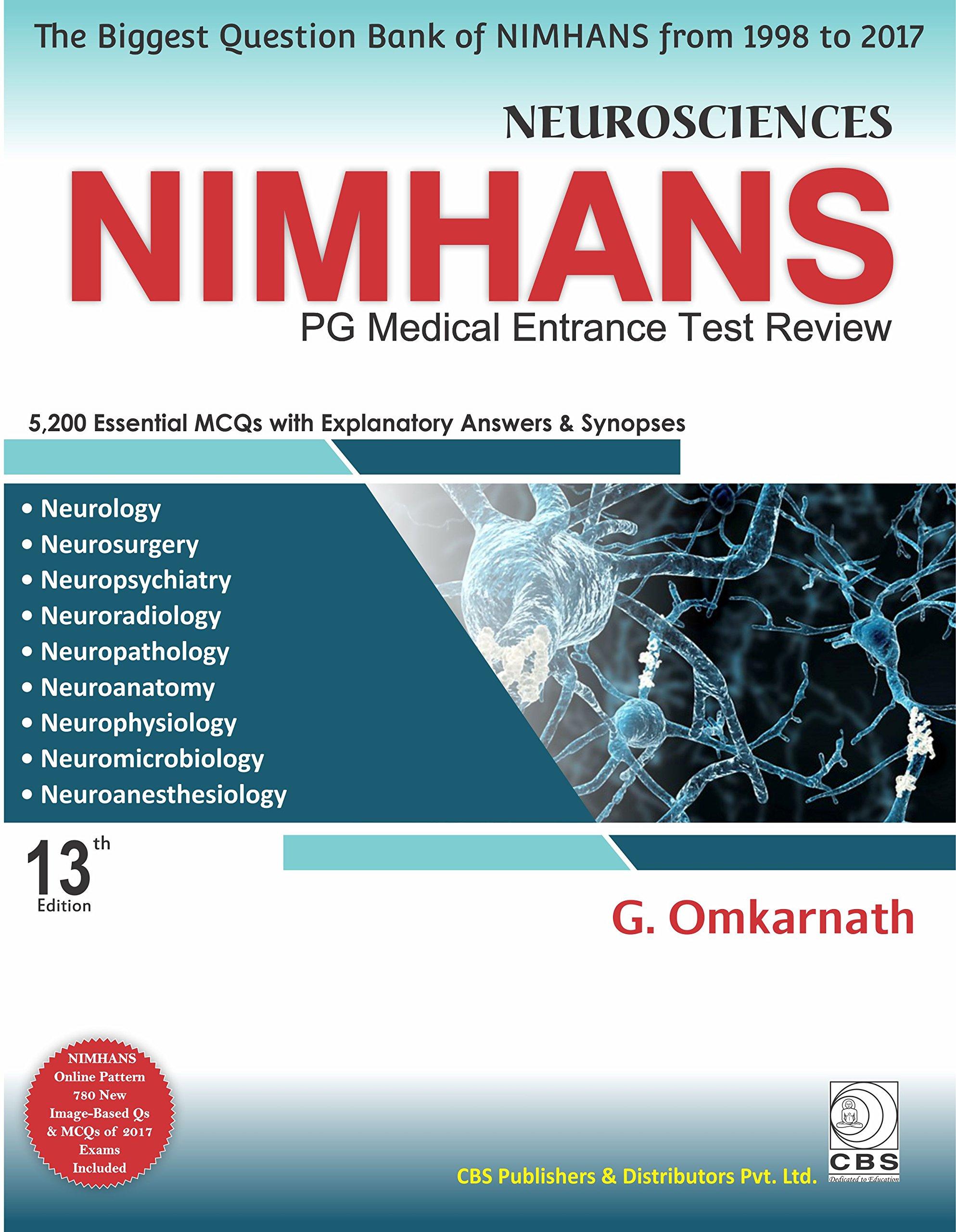Buy Neurosciences NIMHANS-PG Medical Entrance Test Review