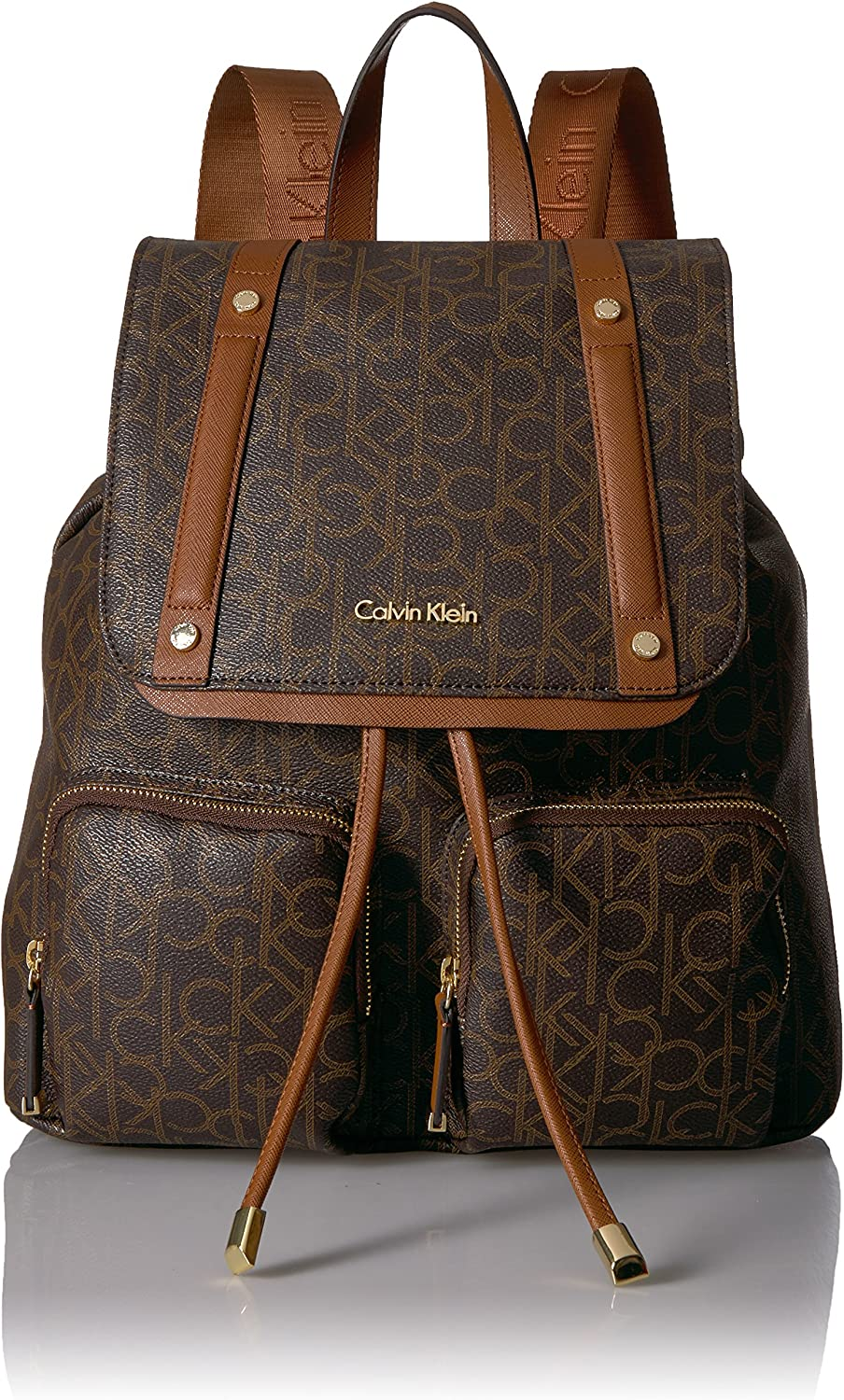 Calvin Klein Teodora Monogram Flap Backpack