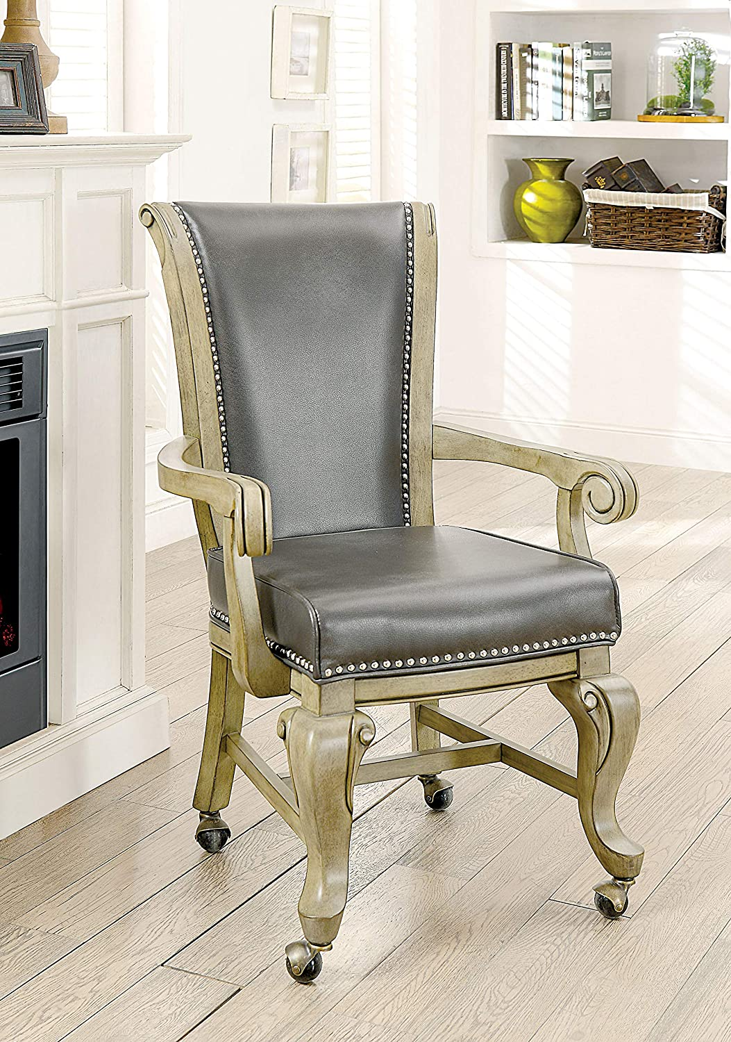William's Home Furnishing Melina Accent Chair, Gray