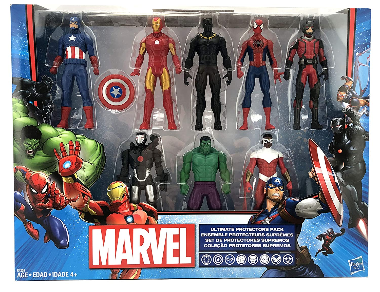 Marvels Avengers Action Figure Set | Ultimate Protector Edition | 8 Super Hero Action Figures | Hasbro