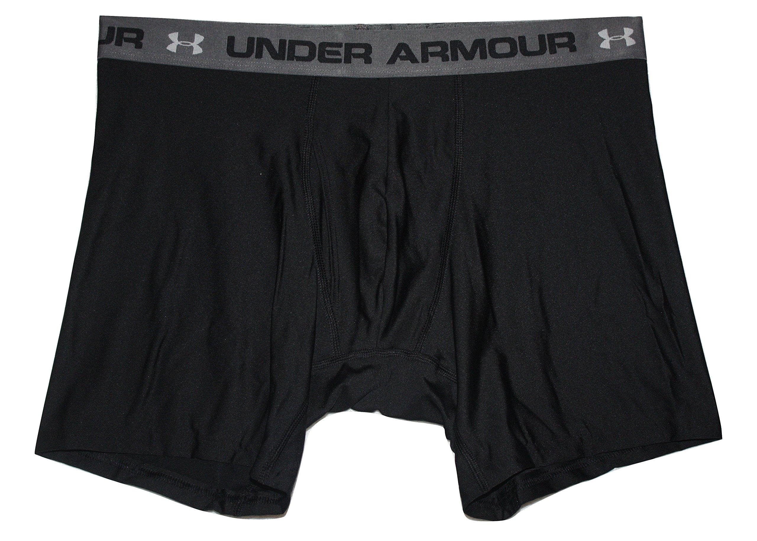 "Under Armour Men's UA Heatgear 6"" Boxerjock (Medium, Black)"