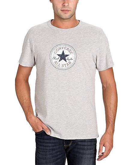 Converse T Shirt Men VINTAGE PATCH T 19102A Grey Melange