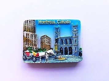 Imán para nevera de recuerdo de Canadá, de Montreal, en 3D, diseño ...