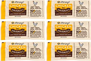 product image for ETTA SAYS! Deli Sausage Link Meat Treats for Dogs – Pack of 6 – Made in The USA, Human Grade, No Added Hormones, No Nitrates or Nitrites, No MSG, Gluten-Free, Soy-Free