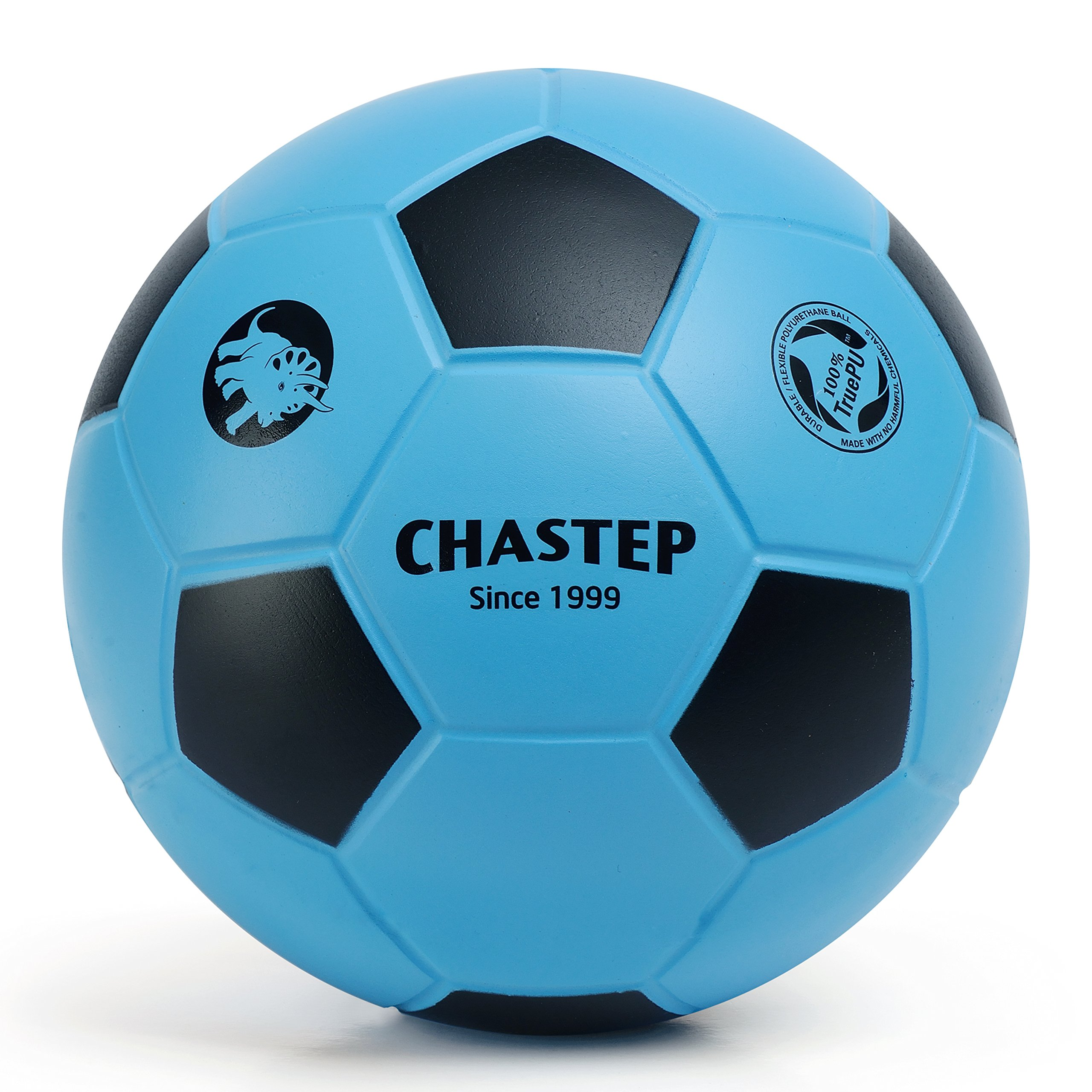 Chastep 8'' Foam Soccer Ball Perfect for Kids or Beginner Play and Excercise Soft Kick & Safe,Blue/Black