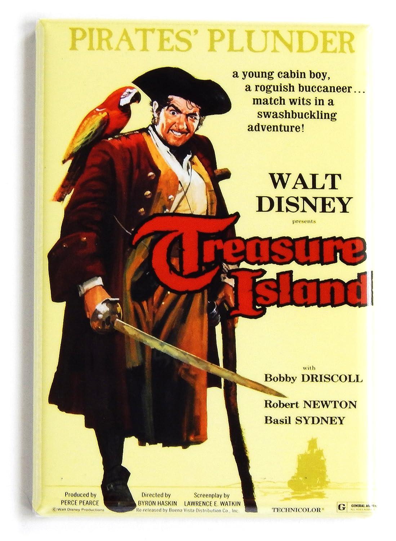 Treasure Island (1950) Movie Poster Fridge Magnet (2.5 x 3.5 inches)