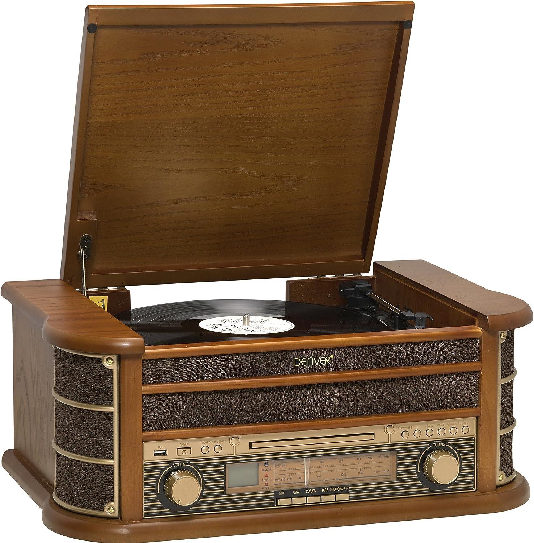 Denver MCR-50 Marrón tocadisco: Denver: Amazon.es: Electrónica