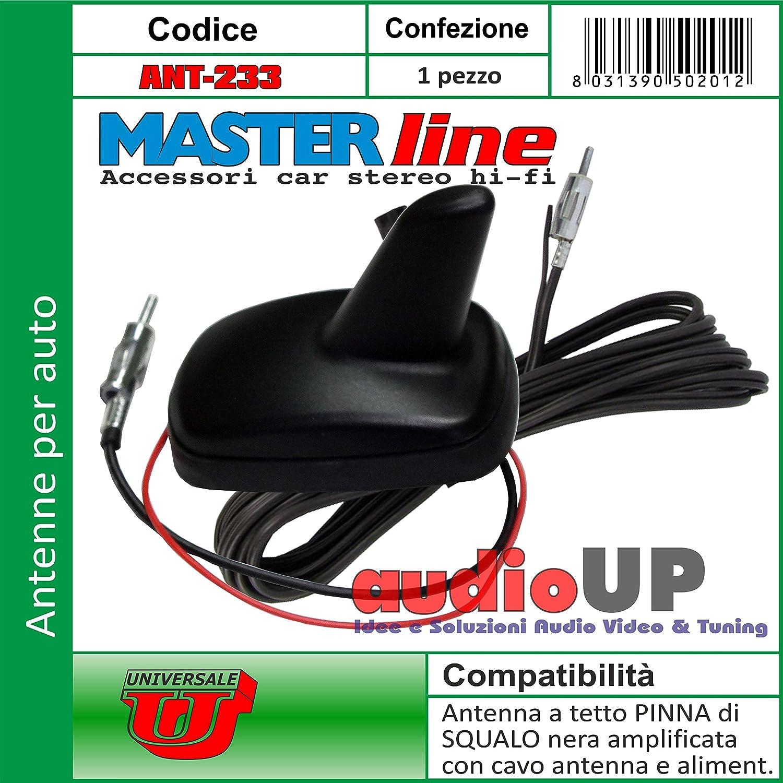 Antena Universal de Techo Am-FM amplificada con Cable 4,5 m ...