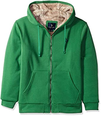 c88a4b61 U.S. Polo Assn. Men's Sherpa Lined Fleece Hoodie at Amazon Men's Clothing  store: