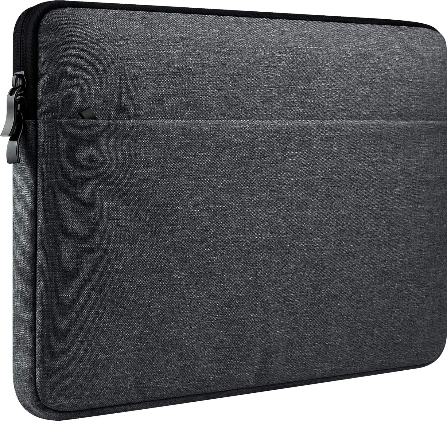 """CCPK 14-15 Inch Laptop Sleeve Compatible for New 15.4"""" MacBook Pro with Touch Bar 2018 2017 2016 A1707 A1990 Retina 2012 to 2015 A1398 14"""" Hp Probook 640 Elitebook 840 g3 Case Bag Pocket Black Grey"""