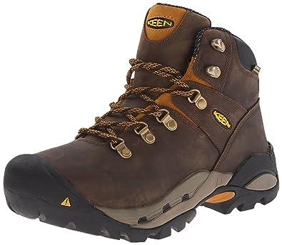 KEEN Utility Men's Cleveland Work Boot, Cascade Brown/Inca Gold, 9.5 2E US