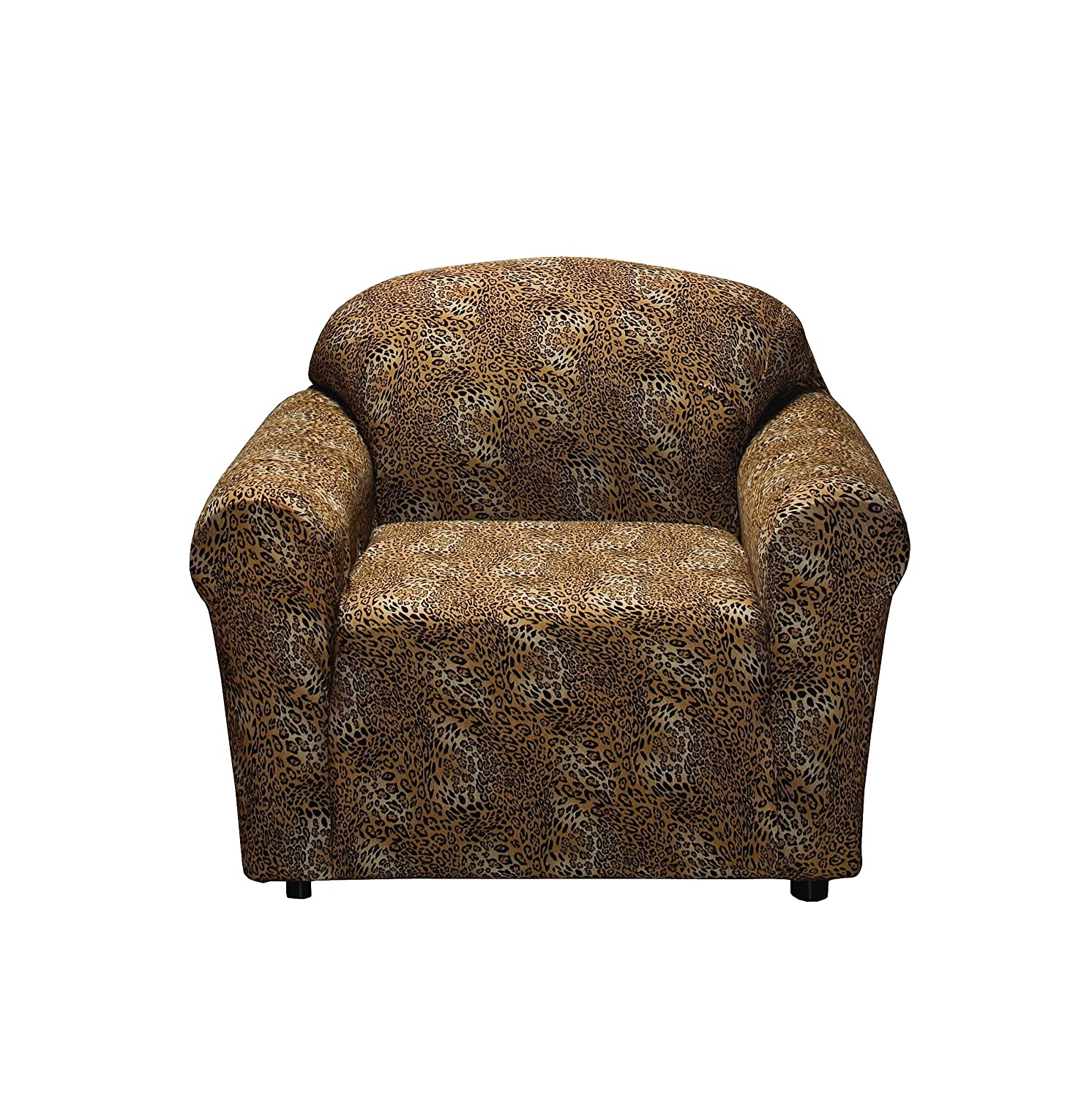 Amazon Madison Stretch Jersey Leopard Chair Slipcover
