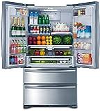 "Smad 36"" French Door Refrigerator 4 Doors Freezer Stainless Steel with Ice Maker, 20 Cu. Ft."