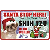 Hanging Christmas Stocking Pet Pals Black /& White Shih Tzu Vivid Arts
