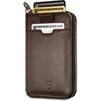 Vaultskin Notting Hill zip wallet with RFID protection (Brown)