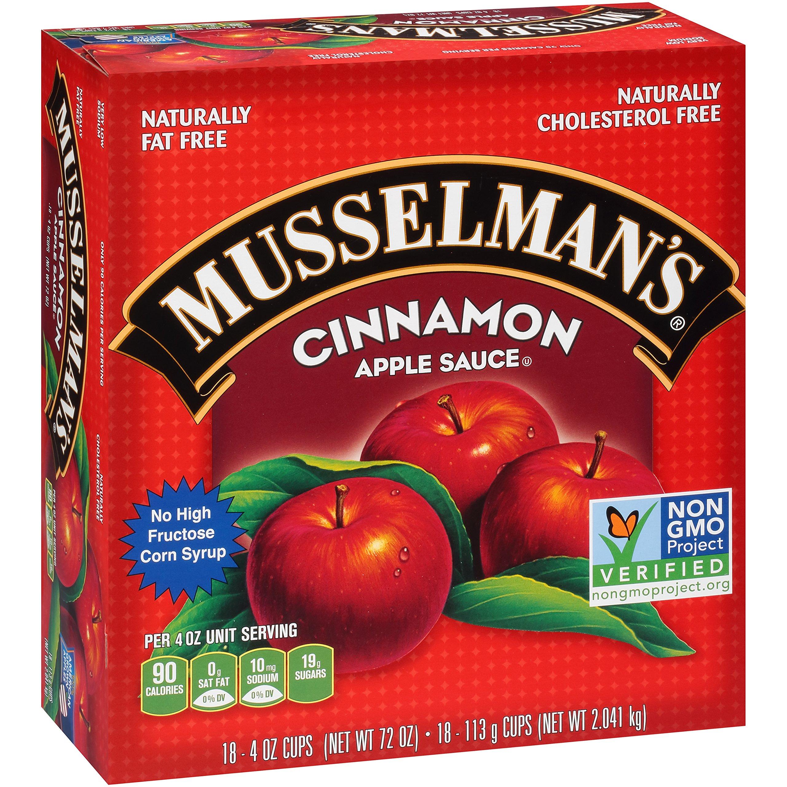 Musselman's Cinnamon Apple Sauce Cups, 4 Ounce