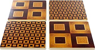 product image for Set of 4 Wooden Coasters - Adapted From Unique Woodworking Patterns by Mitercraft,Set 2