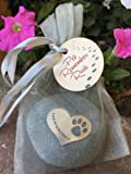 Quotable Cuffs Pet Memorial Forever in My Heart Paw Print Stone for Dogs or Cats - Sympathy Remembrance Stone by Whitney Howard Designs