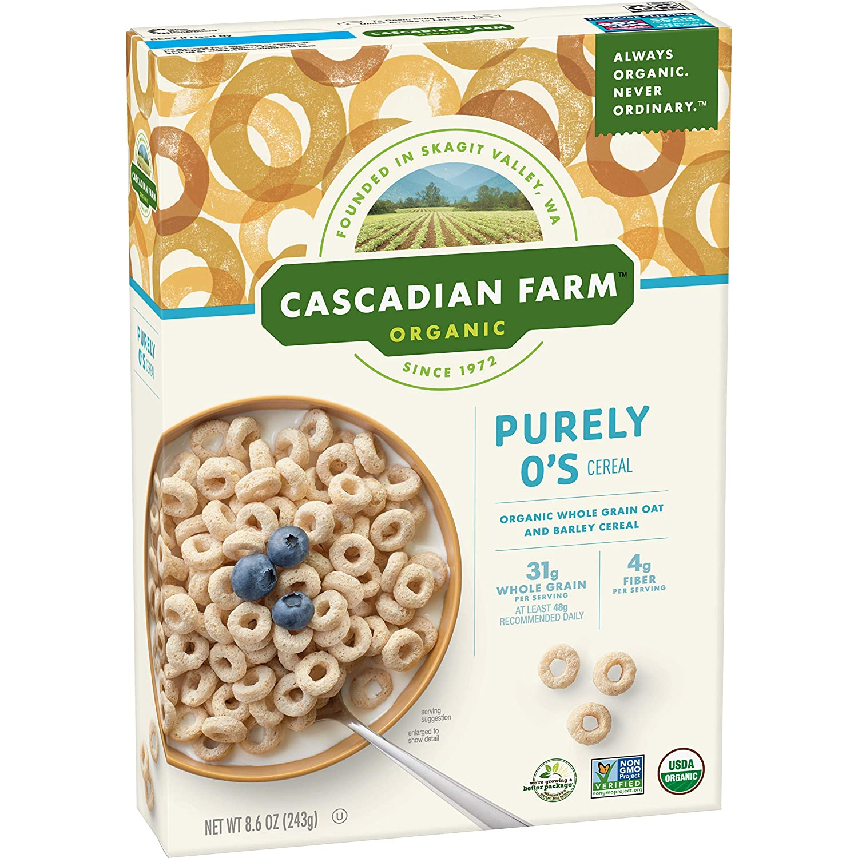 Cascadian Farm Organic Purely O's cereal 8.6 oz