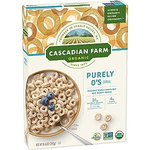Cascadian Farm Organic Purely O'S Cereal, 8.6 oz