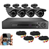 Best Vision Systems BV 8 Channel HD 1080N DVR Security Surveillance System with 1TB Hard Drive and 4x 720P IR Outdoor Weatherproof Bullet Cameras