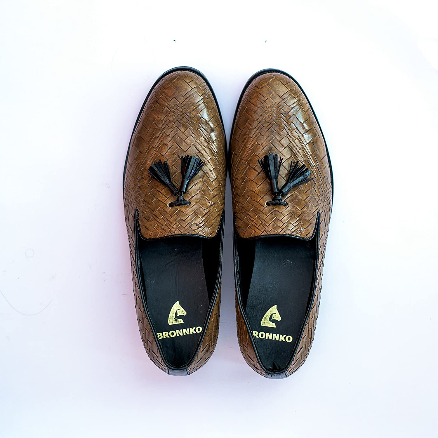 398a37b1f4b143 Bronnko Brown Tassel Men's Loafers Formal / Casual Shoes: Buy Online at Low  Prices in India - Amazon.in