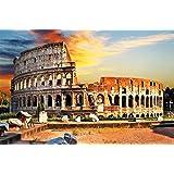 Colosseo FOTOMURALE - anfiteatro Colosseo quadro da parete - XXL poster Colosseo tramonto del sole decorazione da parete Roma by GREAT ART (210 x 140 cm)
