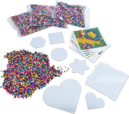 PLAYBOX Platte Bügel-Perlen 15 Steckplatten für Midi-Bügelperlen