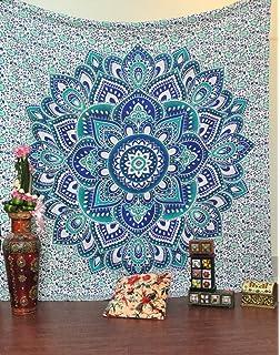 Jaipurhandloom Big Mandala Hippie Tapestry Hippie Wall Hanging Tapestries Bohemian Tapestries Queen Mandala