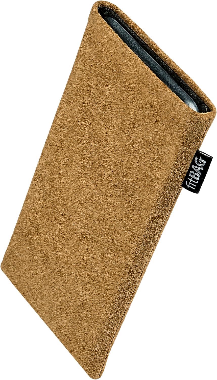 Made in Germany H/ülle mit Reinigungsfunktion fitBAG Classic Braun Handytasche Tasche aus original Alcantara mit Microfaserinnenfutter f/ür Apple iPhone 11