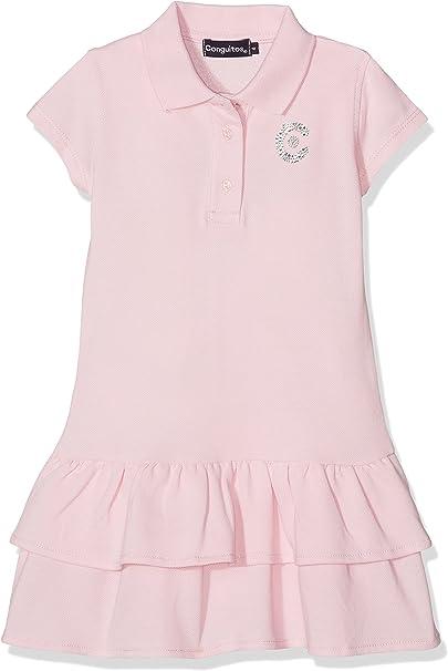 Conguitos Vestido Polo Niña Rosa, 6A para Niñas: Amazon.es: Ropa y ...